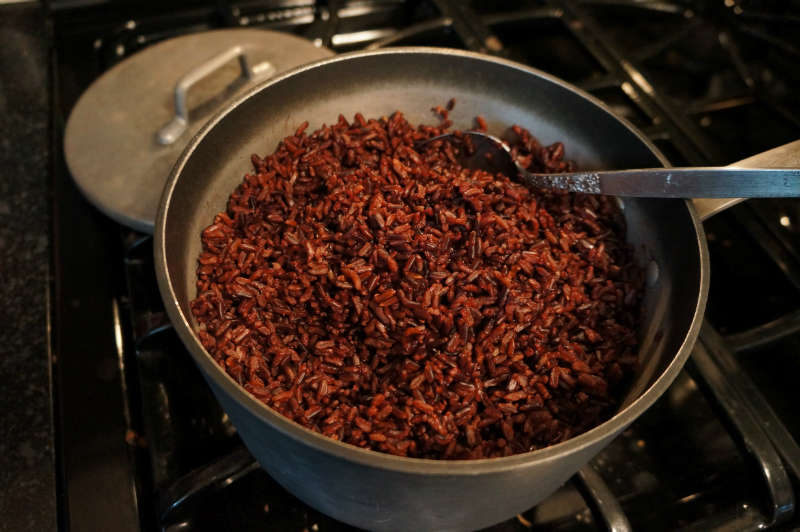 Cooked HINODE Black Rice