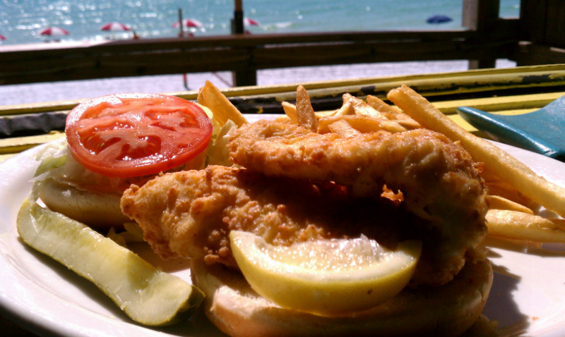 Fried Flounder Sandwich