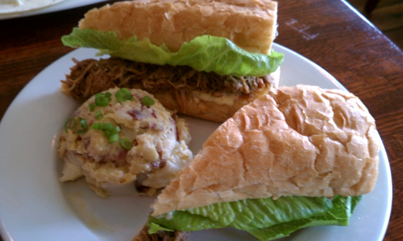 Pork Debris Po-Boy with White Truffle Aioli