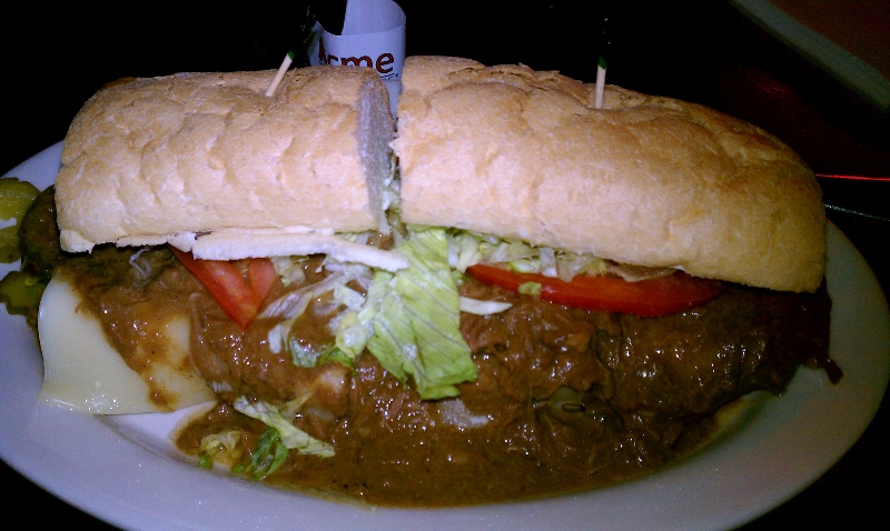 Sloppy Roast Beef Po-Boy