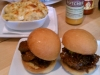 Brisket Sliders with Pancetta Mac and Cheese